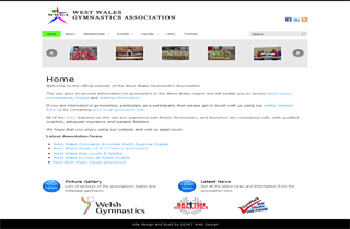 West Wales Gymnastics Association Screenshot