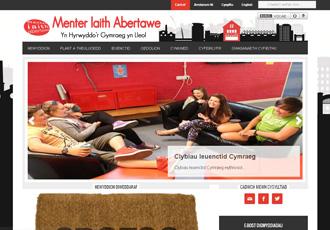 Menter Iaith Abertawe website screenshot