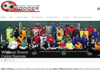 Ashley Williams Soccer Camps website