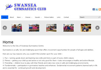 City of Swansea Gymnastics Club website
