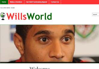WillsWorld Charity website