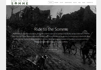 Ride to the Somme website screenshot