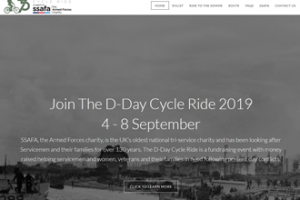 D-Day Cycle Ride website screenshot