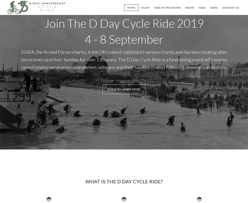 D Day Cycle Ride homepage
