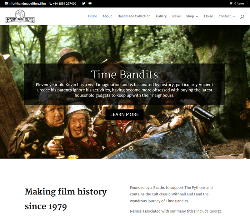 Handmade Films website