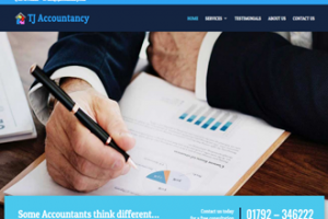 TJ Accountancy website screenshot