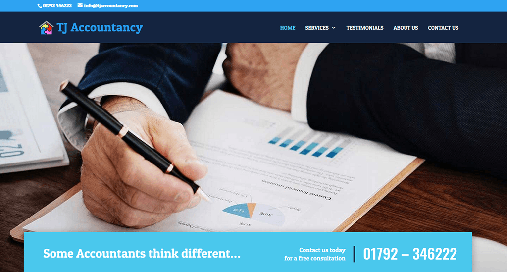 TJ Accountancy website