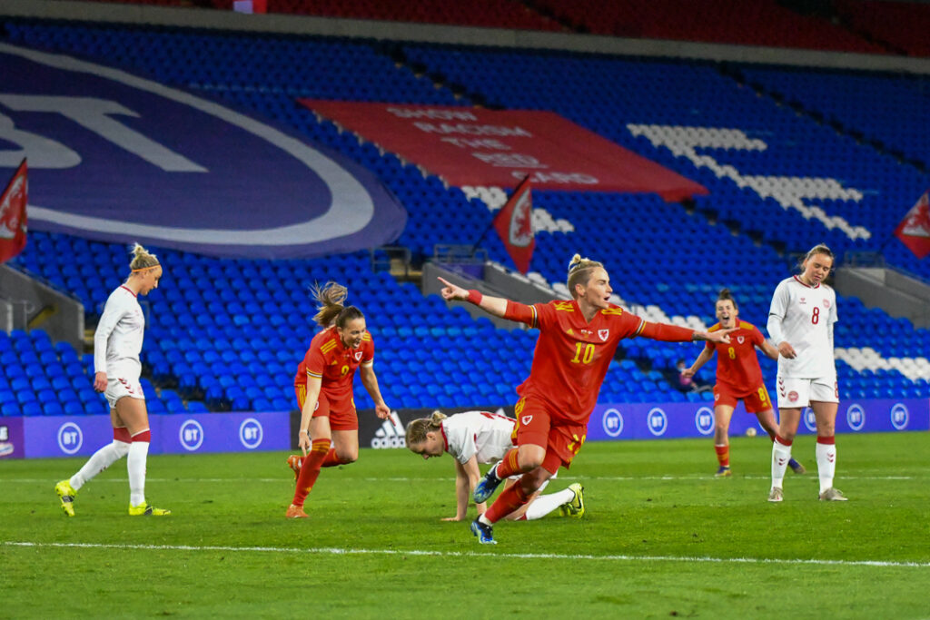 Women's International Friendly match between Wales and Denmark at the Cardiff City Stadium in Cardiff, Wales, UK.