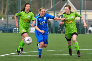 Women's Friendly football match between FA Women's National League Southern Premier Division Cardiff City Ladies and FA Women's National League Division One Midlands Boldmere St Michaels Women at the CCB Centre for Sporting Excellence in Ystrad Mynach